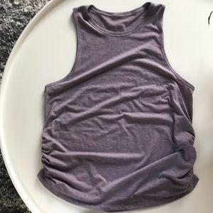 Lululemon light purple ruched muscle tank size 6